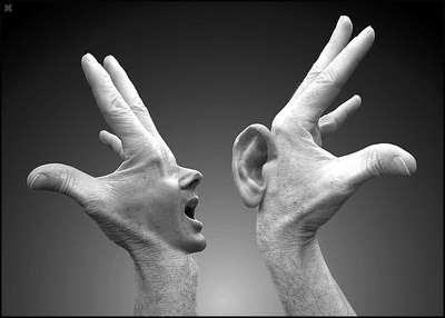 kulak, agız, yurek!