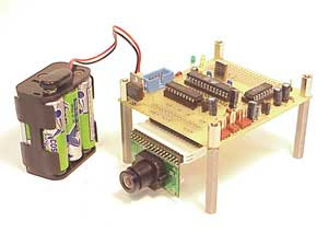 The ATmega8 microcontroller-based AVRcam