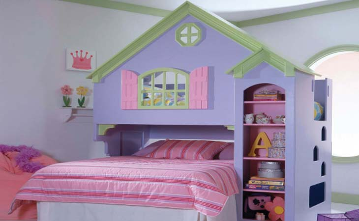 architecture homes modern and colorful kids bedroom