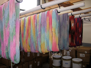 drying yarn