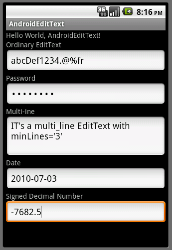 Android-er: Some examples of inputType on EditText