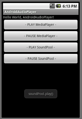 Play foreground and background music using SoundPool and MediaPlayer