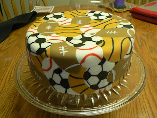 Boys Sports birthday cakes Ashlee Marie real fun with real food