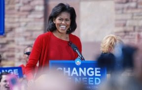 Michelle Obama in Boulder uncropped