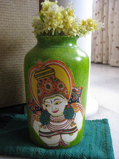 Brush Strokes Kerala Mural Painting On Pot A Fusion Of