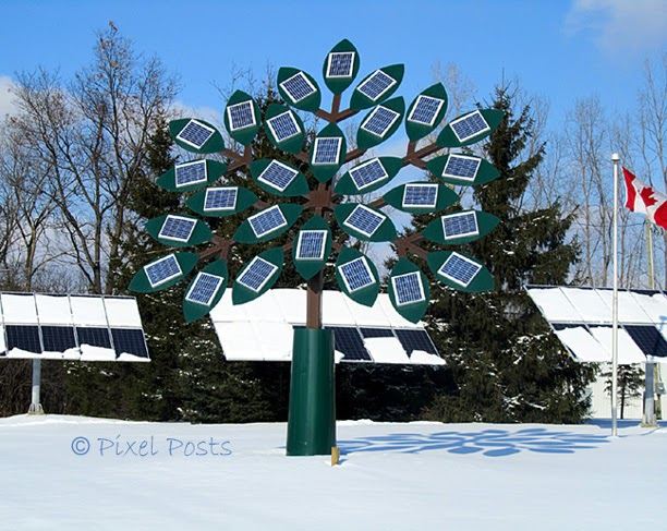 Pixel Posts Solar Tree My World Tuesday
