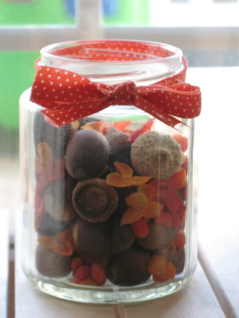 acorns in a jar