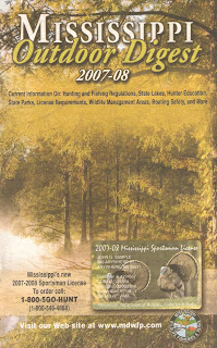 Last Week I Picked Up The Mississippi 2007 08 Outdoor Digest Which Is A Publication By Ms Department Of Wildlife Fisheries And Parks To Read
