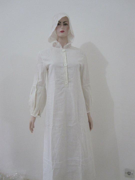 Toko Qeeta Gamis Putih Capucon