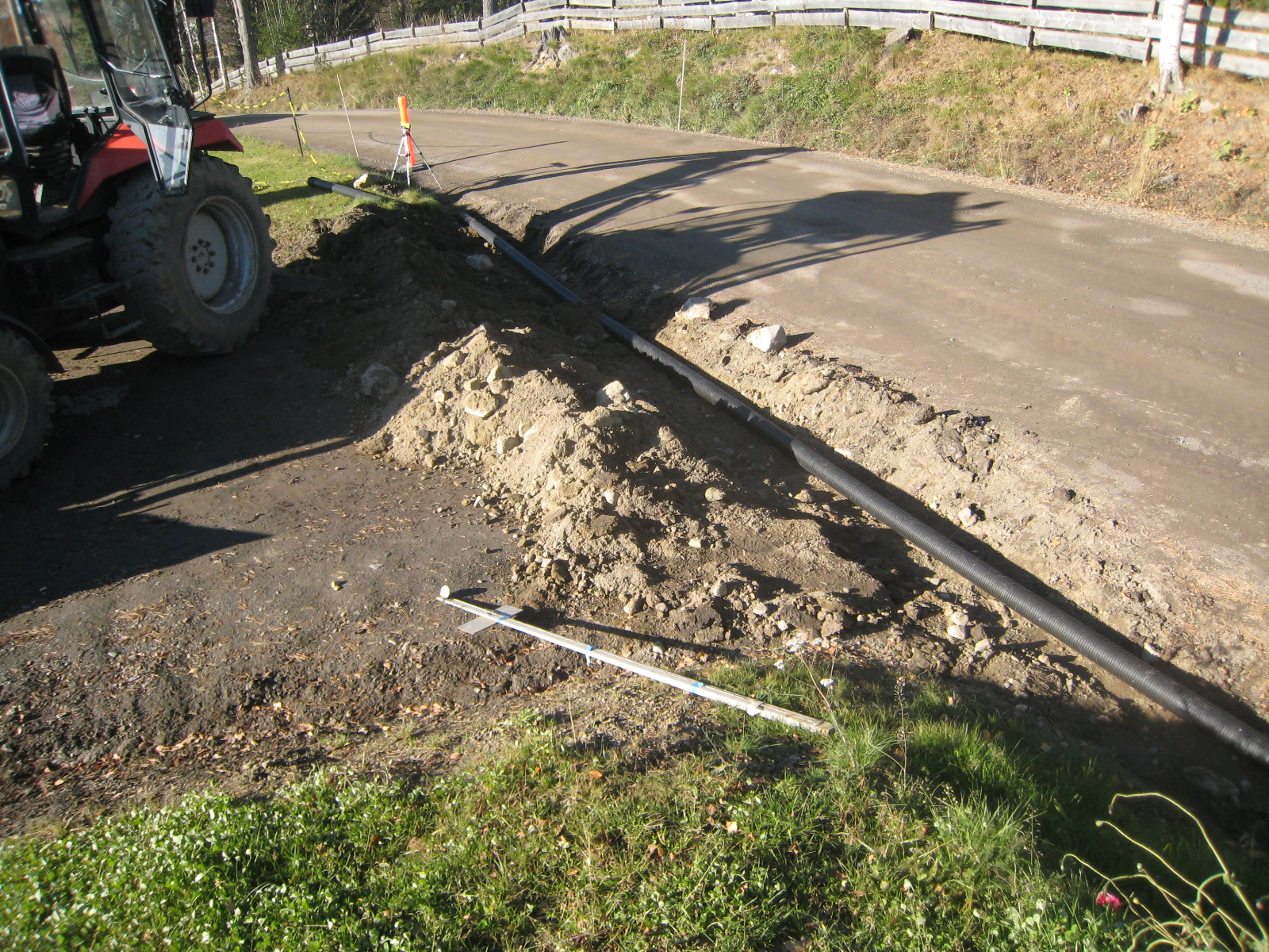 jordledning til uthus