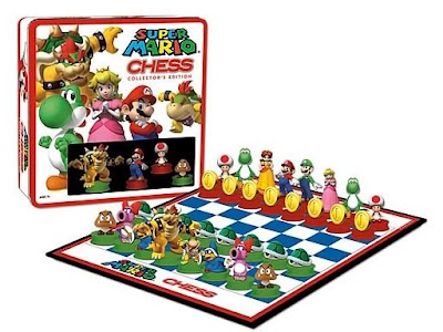 Super Mario Chess Set: Mario And Bowser Face-off On The Board