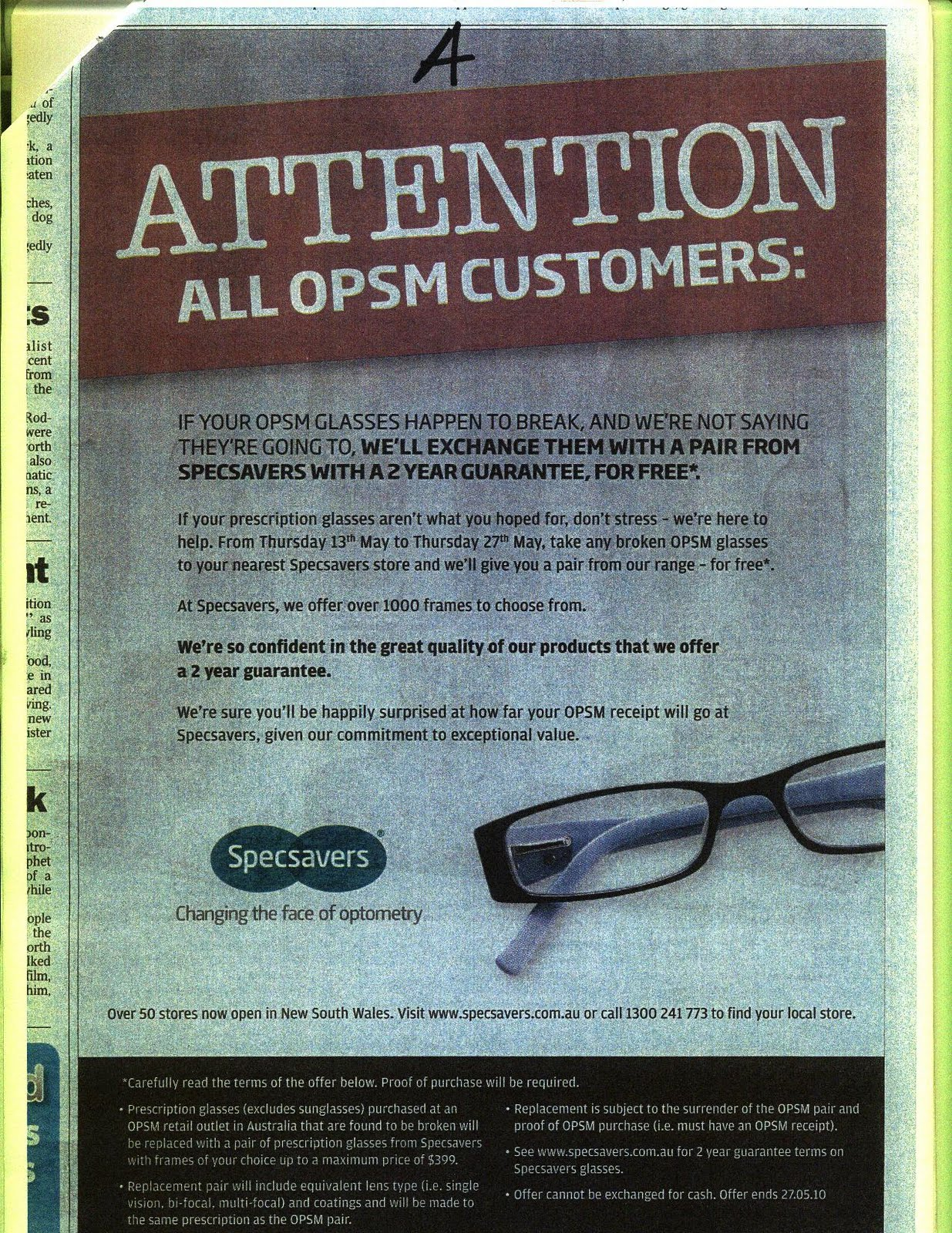 The 1709 Blog: Why you won't find Specsavers in the ...