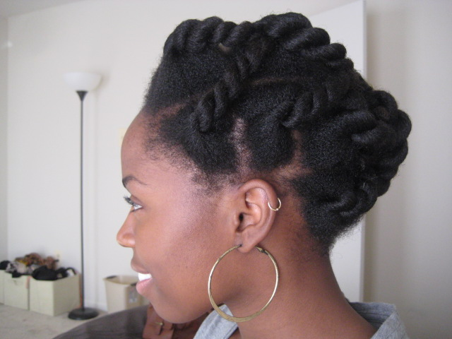 Hair Updos For Short Natural Hair: Elizabeth's Twisted Updo- By Popular Demand!