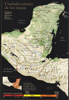 Mapa ciudades-estado mayas