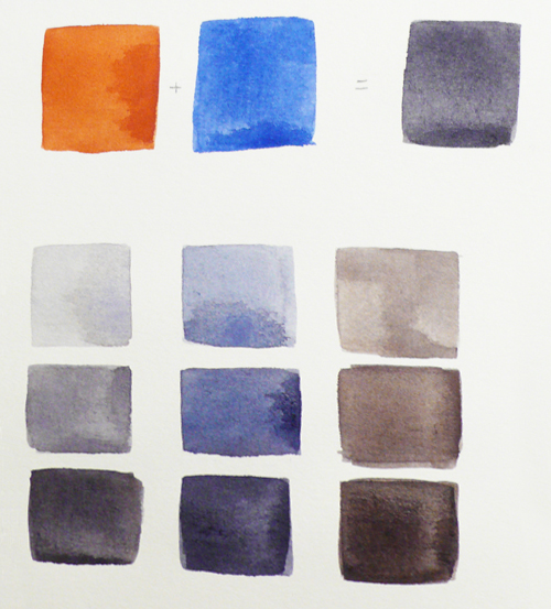 Watercolor Basics Mixing Complementary Colors