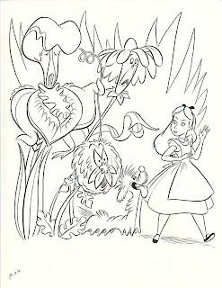 Vintage Disney Alice in Wonderland: Golden Coloring Book