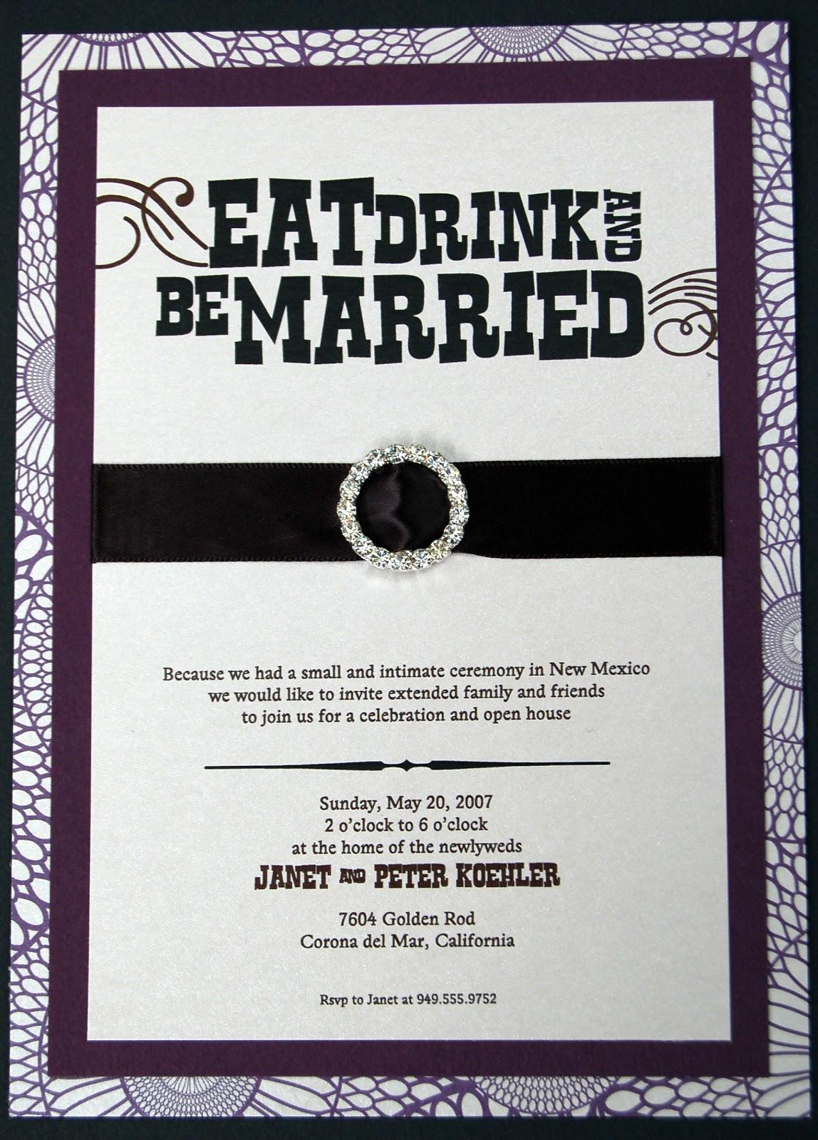 Post Wedding Open House Invitation Wording Poemdocor