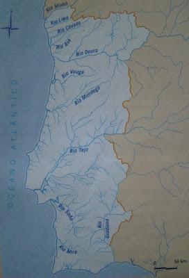 mapa dos rios de portugal e espanha GEOGRAFIAS: RIOS PORTUGUESES mapa dos rios de portugal e espanha