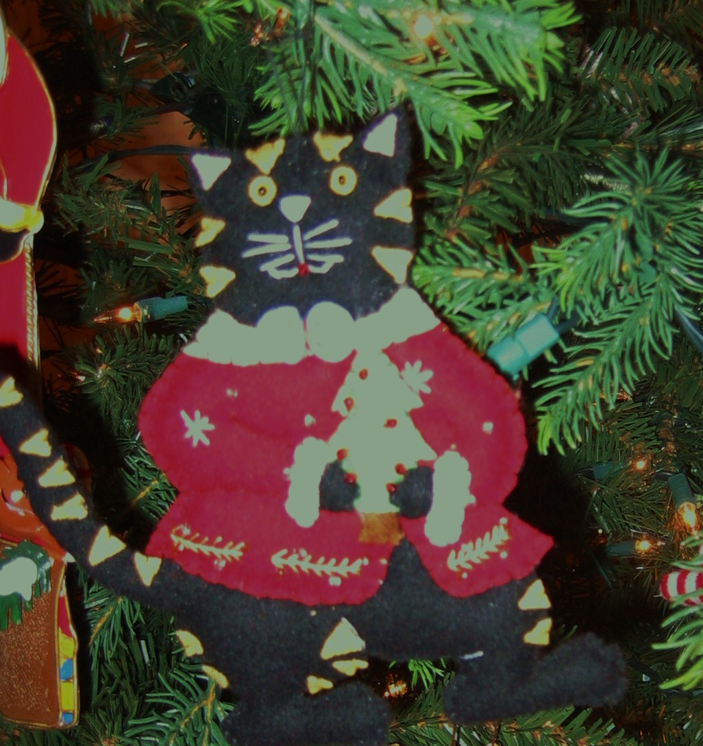 Christmas Tree Made Of Black Cats: The House Where The Black Cat Lives: Cats In My Christmas Tree