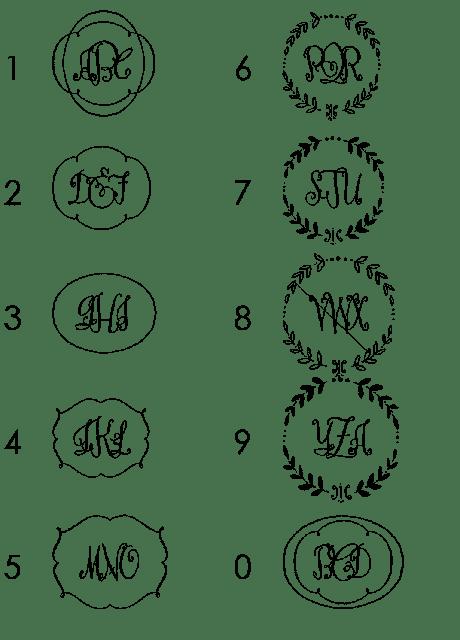 Sweet Pea & Bulldozer: Monograms
