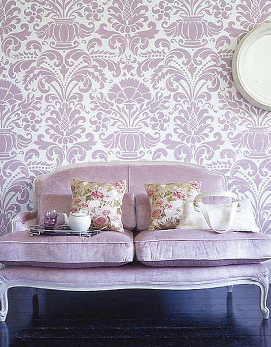 Damask Living Room Decor: The Sunny Sunflower House: Purple Lounge