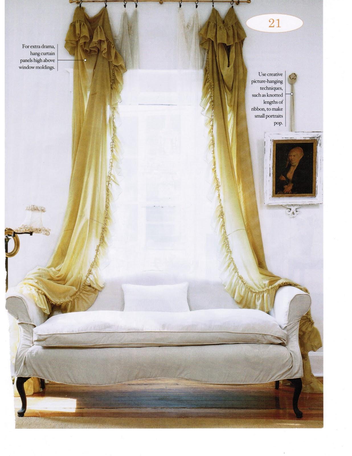 Curtain Styles: Maison Decor: Romantic Style Curtains