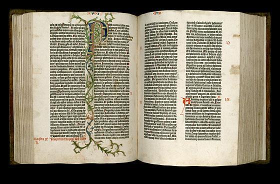 Miscelánea Ius Histórica: INCUNABLES: Biblia de 42 líneas