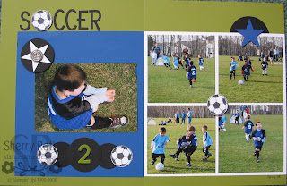 Soccer Scrapbook Layout