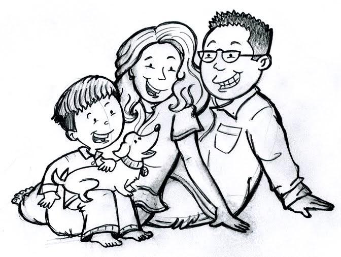 Korey Scott Illustration: Cartoon Family