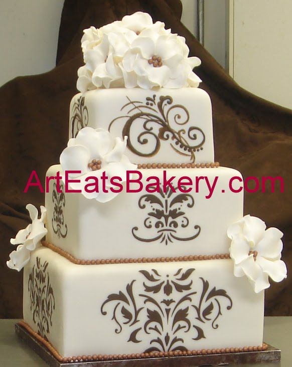 wedding cake fondant design eats bakery custom fondant wedding and birthday cake 22686