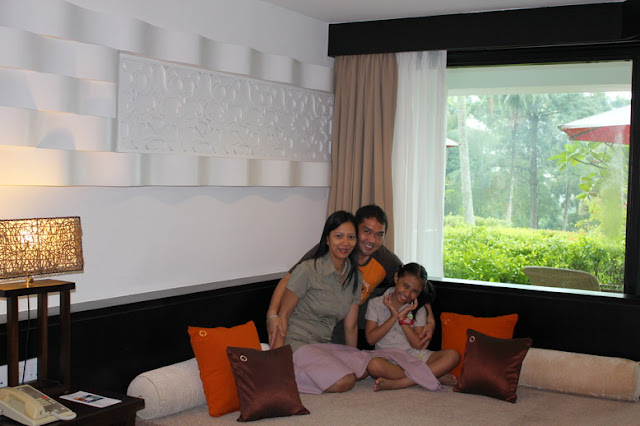 Inside Bintan Lagoon room with a view of the garden.
