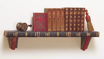 the steampunk home books into bookshelves