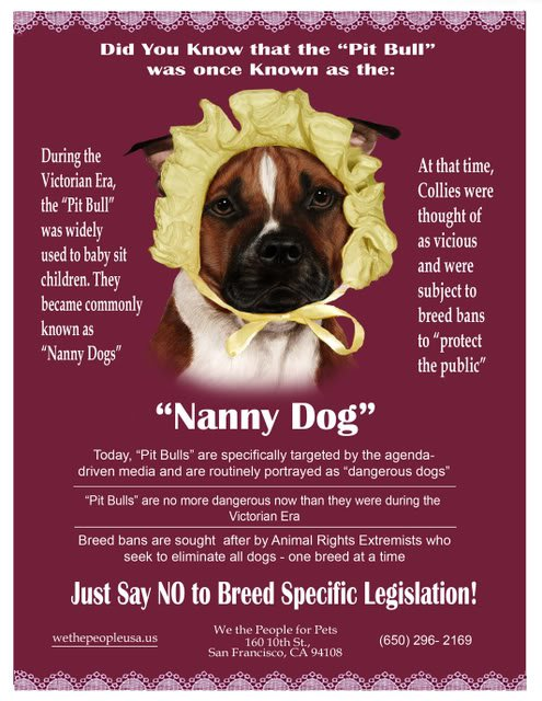"The Truth About Pit Bulls: ""Nanny Dog"""