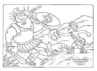 Resultado de imagem para Davi e Golias para crianças