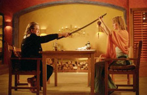 David Carradine y Uma Thurman en Kill Bill: Vol. 2