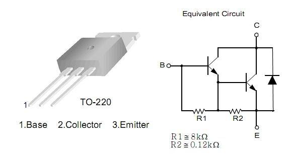 Yafar ET & CS blog: IC介紹-TIP122 NPN Epitaxial Darlington Transistor