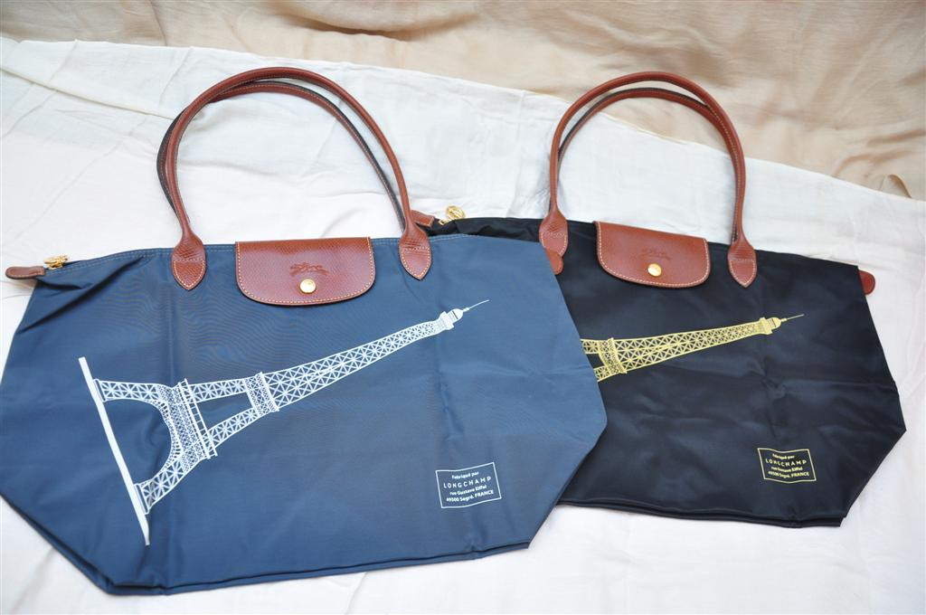 b855c11fcc97 Longchamp Limited Edition Eiffel Tower. 2 different colours - Black and  graphite  )