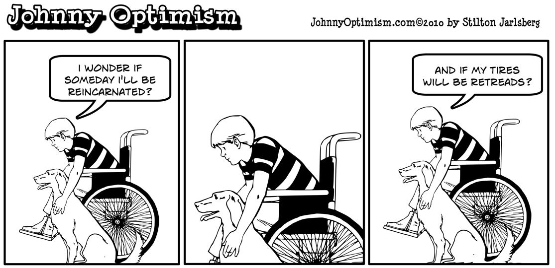 Johnny Optimism, johnnyoptimism, wheelchair, reincarnation