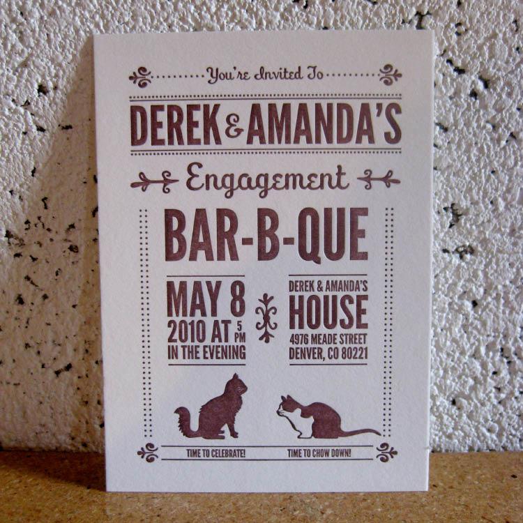 Paper Plates Press :: Letterpress Design House: Engagement ...