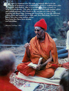 Swami Muktananda teaching in Ganeshpuri, India, around 1981 or 1982