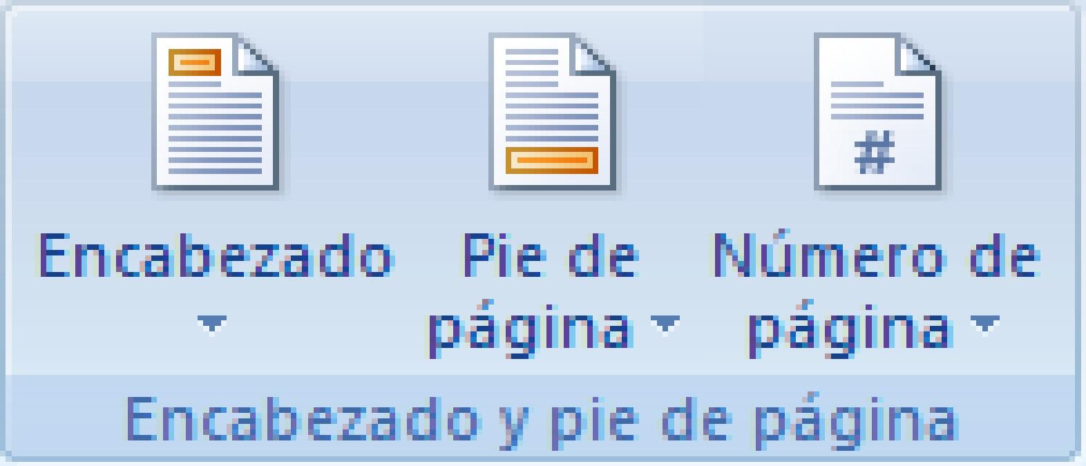 Menú Insertar De Word 2007