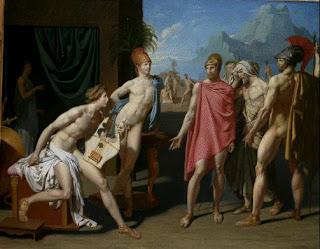 David, Visite d'Achille par Agamemnon