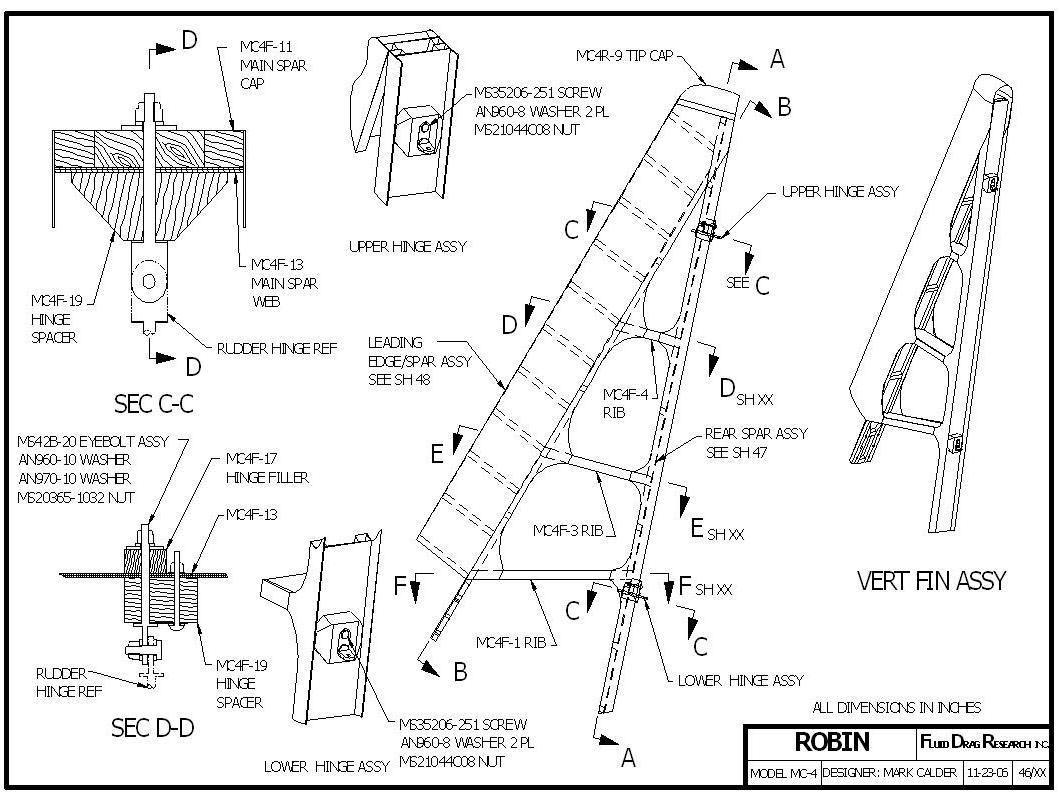 Robin Ultralight: Vertical Fin Construction