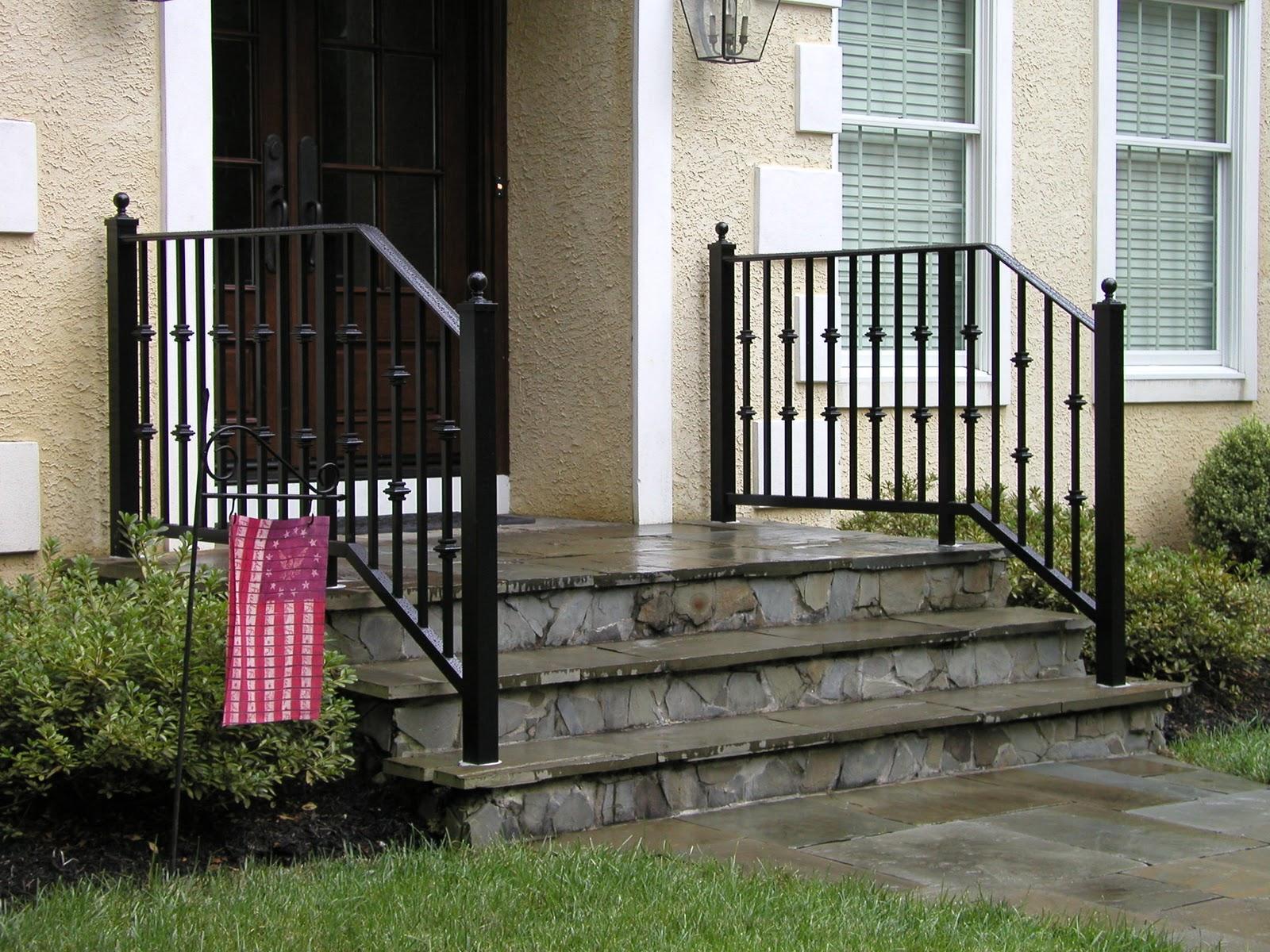Lomonaco S Iron Concepts Home Decor Exterior Aluminum | Aluminum Handrails For Steps