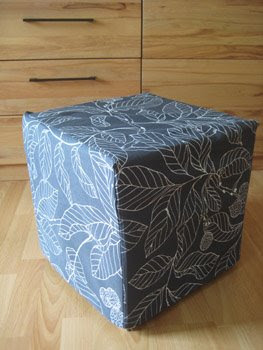 ideas and inspirations ikea hockerbezug n hen sewing a fabric covering. Black Bedroom Furniture Sets. Home Design Ideas