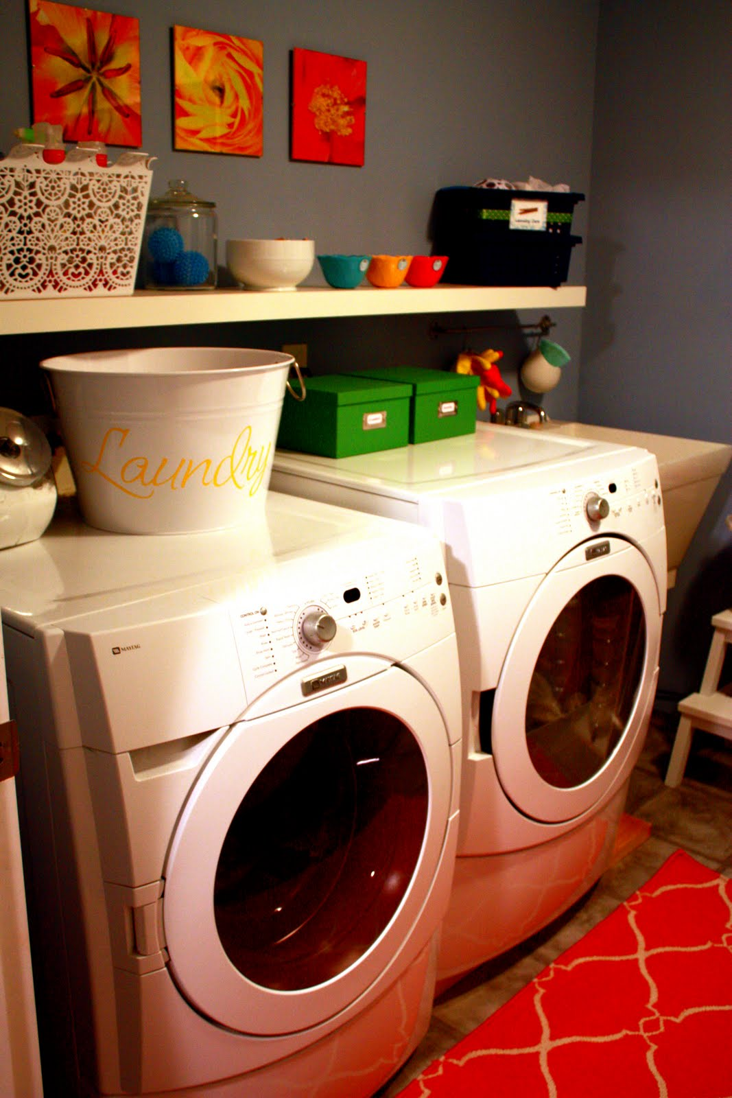 Laundry Room Shelving: IHeart Organizing: June Featured Space: Laundry Room