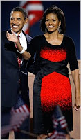 Michelle Obama's dress; photo by Doug Mills/The New York Times
