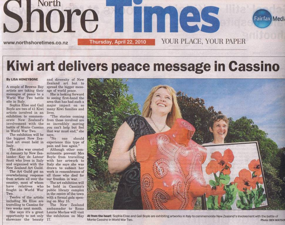 NZ Art Guild: Front Page Article In Local Newspaper For