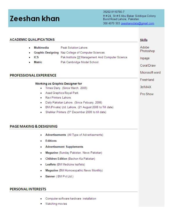 resume presentation software