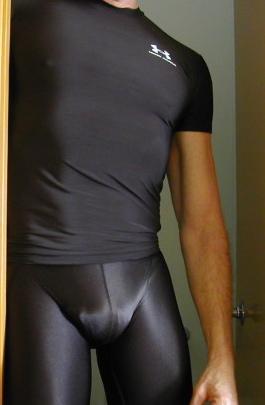compression shorts bulge